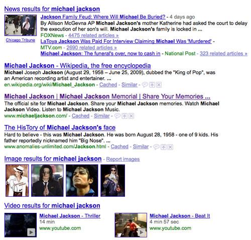 Michael Jackson - Universal Search