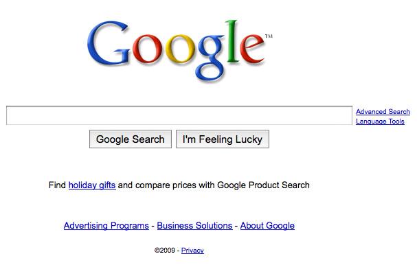 Google's Landing Page