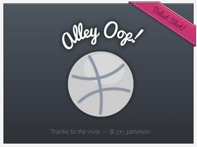 Debut Shot on Dribbble